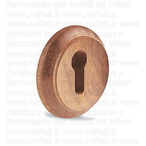 Bocchetta chiave per mobili antichi - Legno LB 149 50 mm