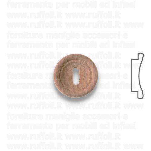 Bocchetta chiave per mobili antichi - Legno MG7580/83