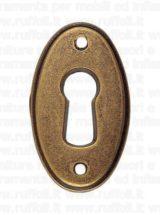 Bocchetta chiave per mobili antichi - Ottone 7758