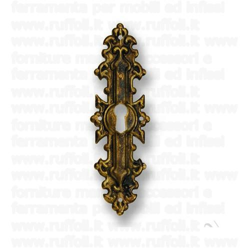 Bocchetta chiave per mobili antichi - Ottone 8008