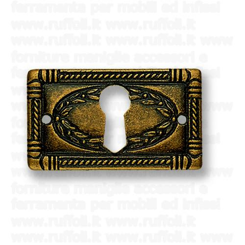 Bocchetta chiave per mobili antichi - Ottone OB687.O
