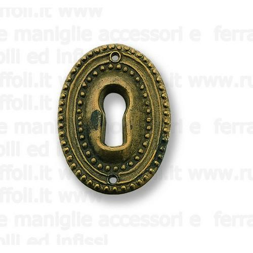 Bocchetta chiave per mobili antichi - Ottone OB528