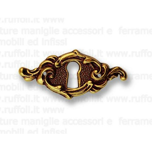 Bocchetta chiave per mobili antichi - Ottone 7792