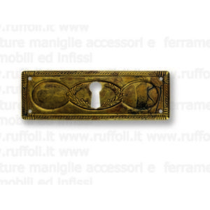 Bocchetta chiave per mobili antichi - Ottone 7948