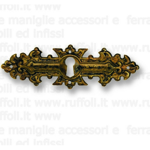 Bocchetta chiave per mobili antichi - Ottone 8006
