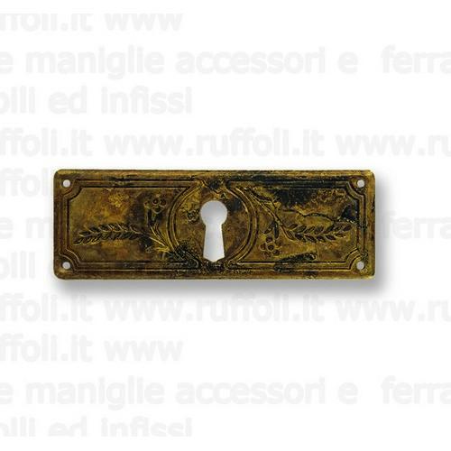 Bocchetta chiave per mobili antichi - Ottone 8045