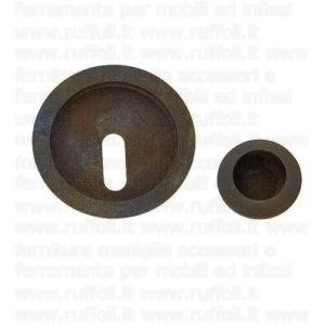 Maniglia porte scorrevole - Ferro anticato 09075FC