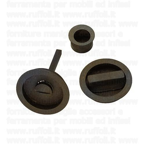 Maniglia porte scorrevoli - Ferro anticato 09074