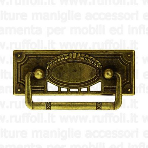 Maniglia per mobili antichi in ottone anticato 2321/47