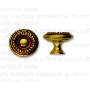 Pomolo per mobili antichi - Ottone anticato 6632/40