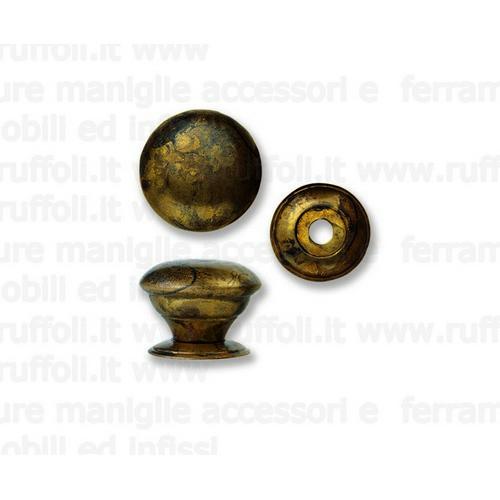 Pomolo per mobili antichi - Ottone anticato 6705/08