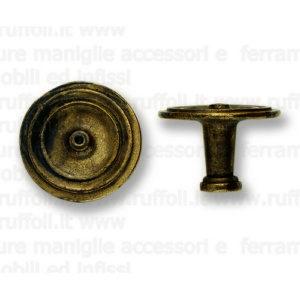 Pomolo per mobili antichi - Ottone anticato 6750/58