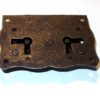 Serratura per mobili antichi 8900/18 in ferro anticato