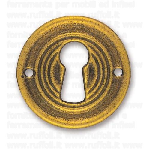 Bocchetta chiave per mobili antichi - Ottone 27352