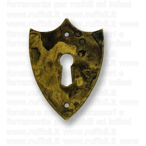 Bocchetta chiave per mobili antichi - Ottone 7979/85