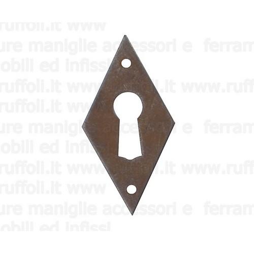 Bocchetta per mobili antichi - ferro anticato 00011