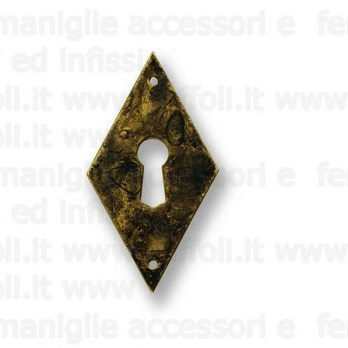 Bocchetta chiave per mobili antichi - Ottone 7927/33