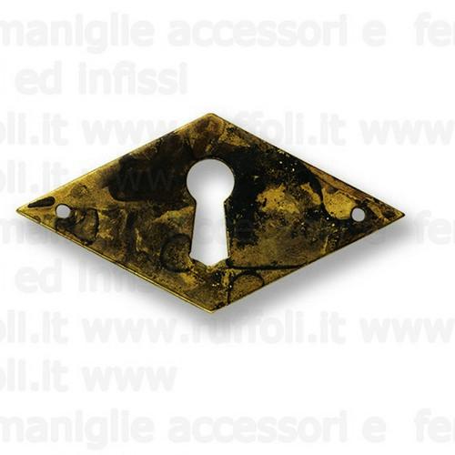 Bocchetta chiave per mobili antichi - Ottone 7923/31