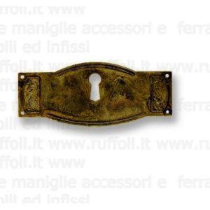 Bocchetta chiave per mobili antichi - Ottone 8019/26