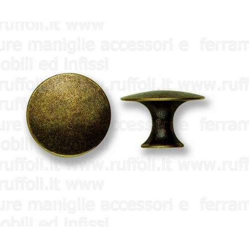 Pomolo per mobili antichi - Ottone anticato 6770/95