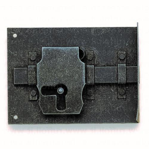 Serratura per mobili antichi SX - Ferro anticato