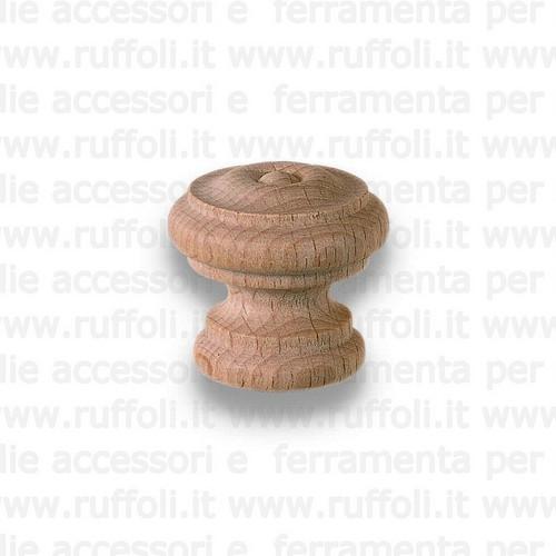 Pomolo per mobili - Legno grezzo 5895/97