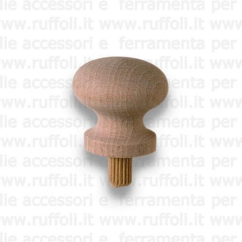 Pomolo per mobili - Legno grezzo 5829/32