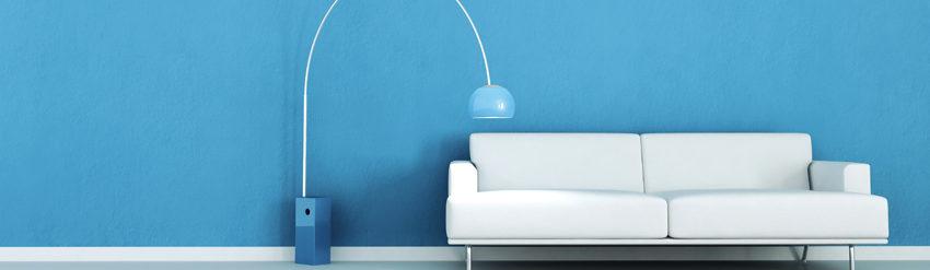 colori e vernici - parete blu - belle arti - Ruffoli