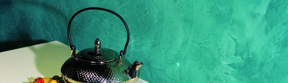 Pitture decorative per interni - parete verde acqua