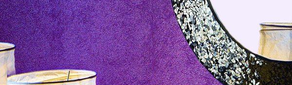 Pitture decorative per interni - parete viola