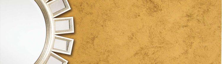 Pitture decorative per interni - parete giallo oro