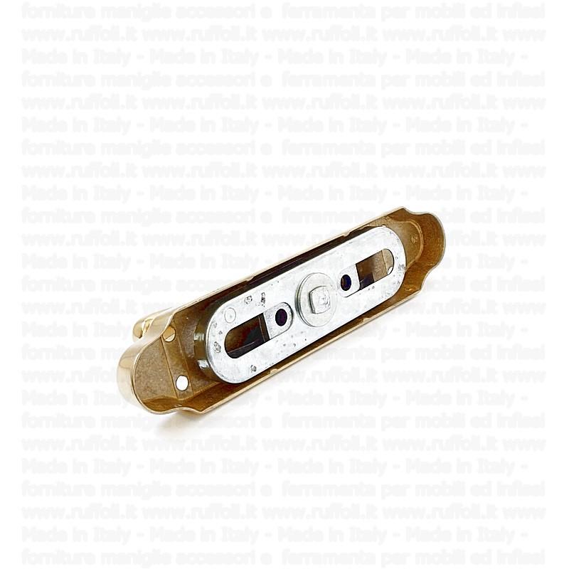 Cremonese con fori ottone lucido naturale cr040lr ruffoli - Reguitti mobili ...