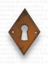 Bocchetta in ferro anticato per porte patent