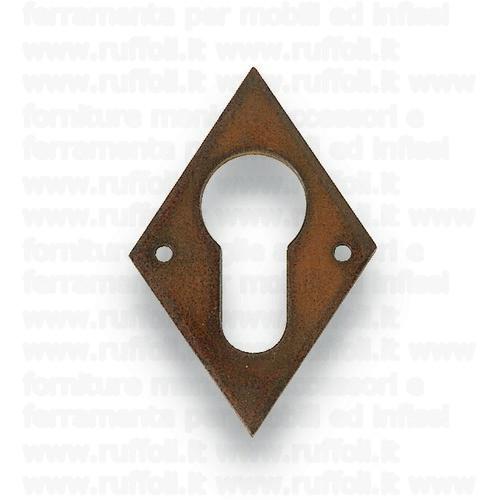 Bocchetta in ferro anticato per porte yale