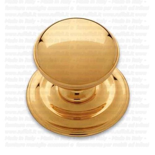 Pomolo fisso per portoncino in stile - Ottone - Pam 169