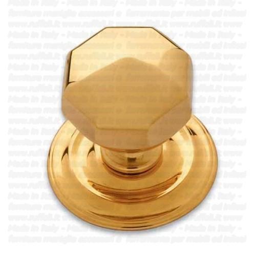 Pomolo fisso per portoncino in stile - Ottone - Pam 170