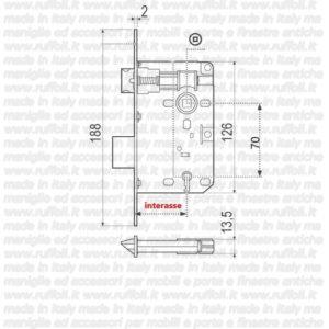 Serratura da porte patent E70