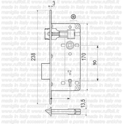 Serratura per porte patent E90