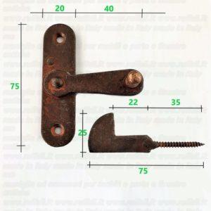 catenaccio ferro anticato per scuri ed ante 09806.22